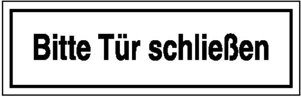 Hinweisschild »Bitte Tür schließen«