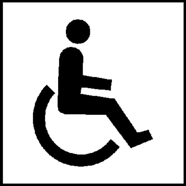 Türschild »Graphic Line - WC - barrierefrei«