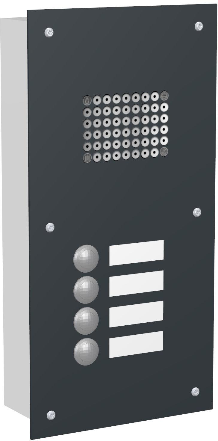 4 Max Knobloch Klingel Unterputz Farbauswahl Funktion Audio