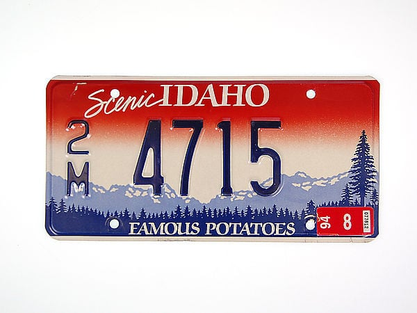 U S-Nummernschild Idaho - Famous Potatoes - original