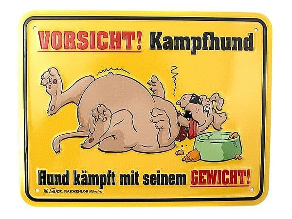 Funschild -Kampfhund- bei SchilderShop