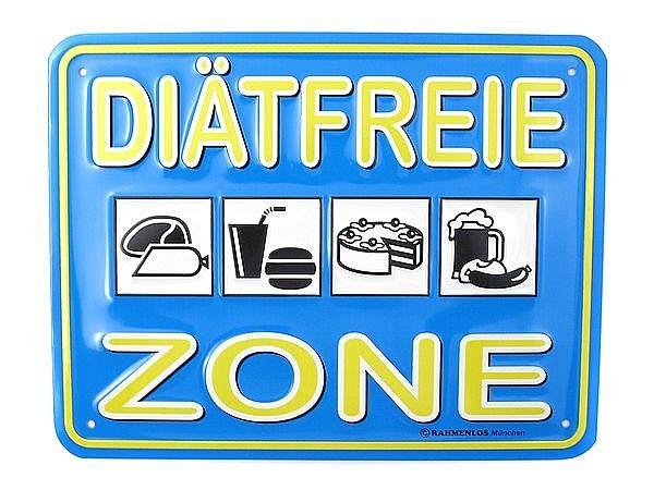Funschild -Diätfreie Zone- bei SchilderShop