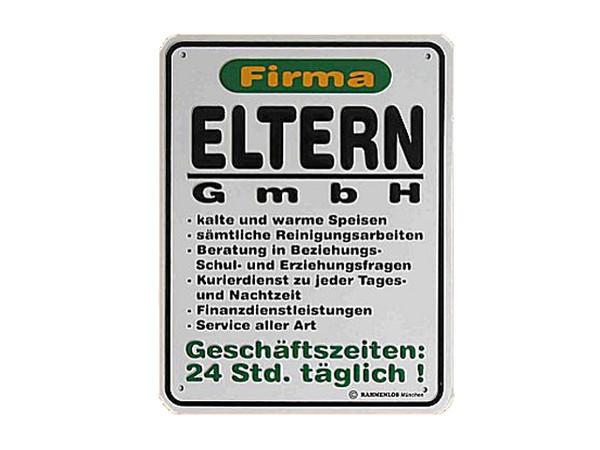 Funschild -Firma Eltern GmbH-