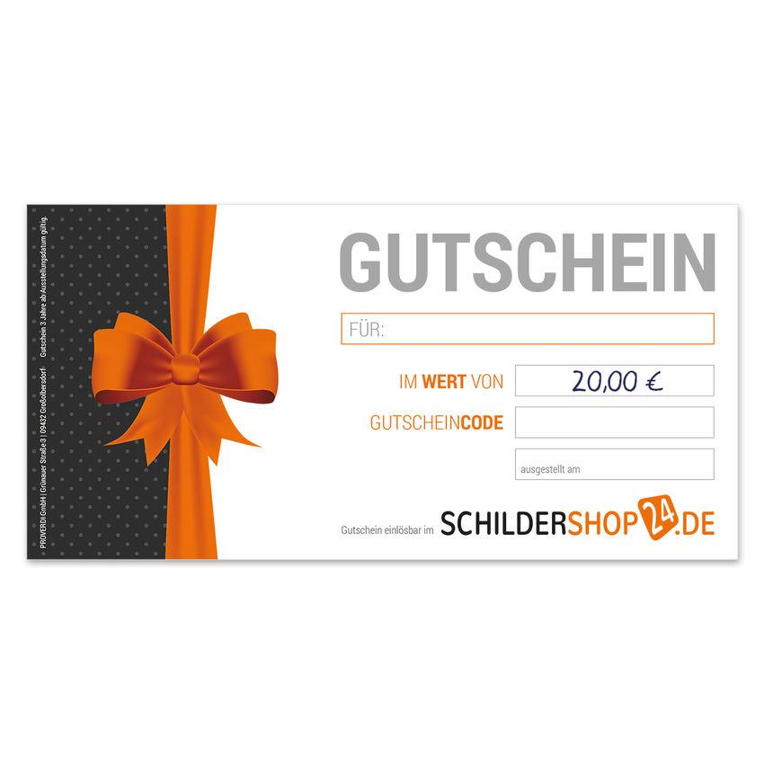 Geschenkgutschein über 20 Euro