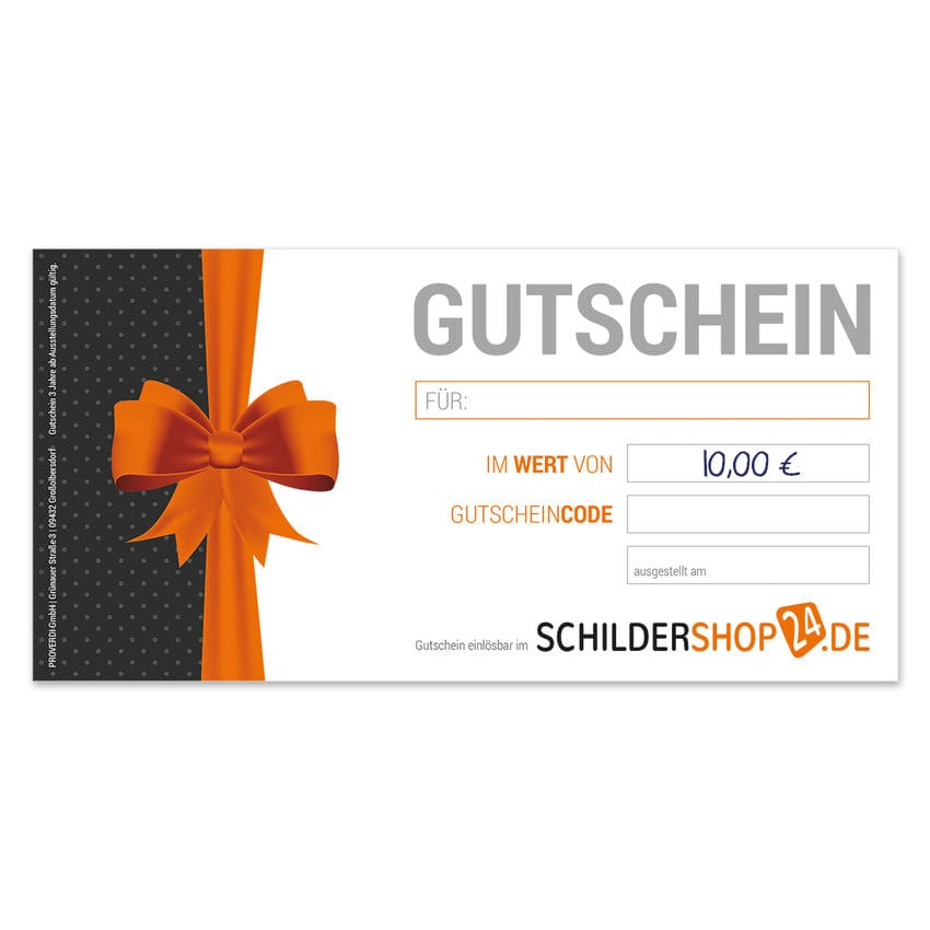 Geschenkgutschein über 10 Euro