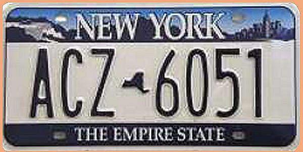 USA - Nummernschild New York