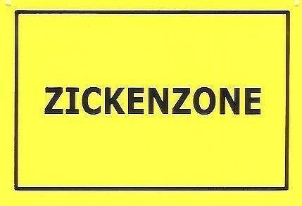 Schild als Postkarte Zickenzone