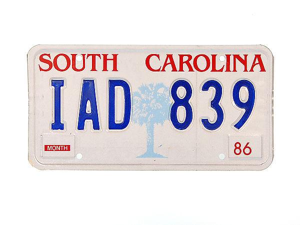 US Nummernschild South Carolina - original