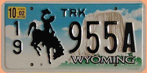 U S-Nummernschild Wyoming Devils Mountain - original
