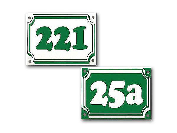 Hausnummer aus Dibond mit max. 3 Zeichen 160 x 120 mm