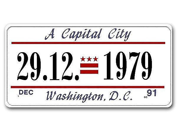 Washington D.C. - USA Dekoschild mit Wunschtext bedruckt