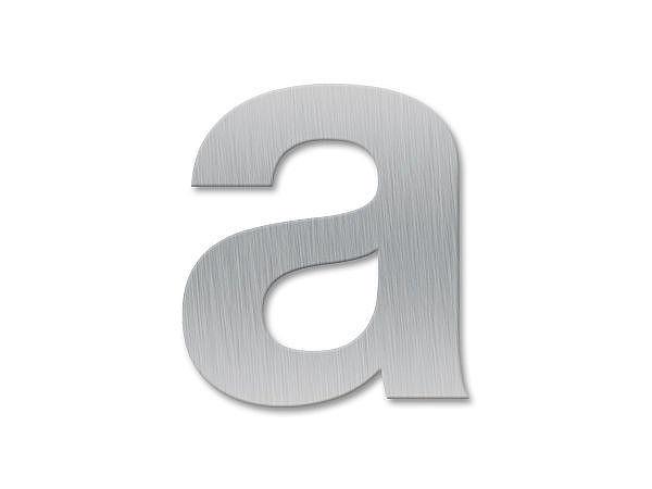 Kleinbuchstabe a - Schriftart Klassik aus Edelstahl