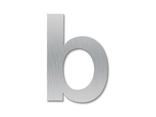 Kleinbuchstabe b - Schriftart Klassik aus Edelstahl