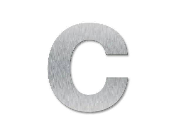 Kleinbuchstabe c - Schriftart Klassik aus Edelstahl