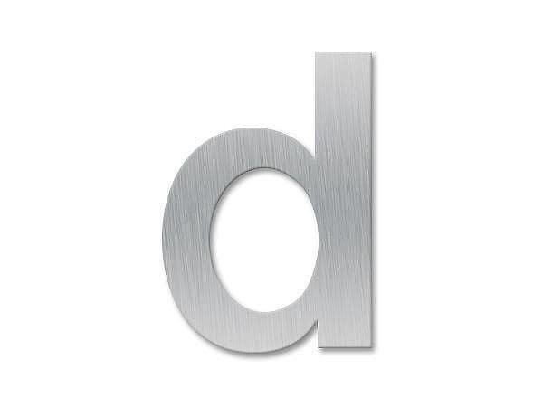 Kleinbuchstabe d - Schriftart Klassik aus Edelstahl