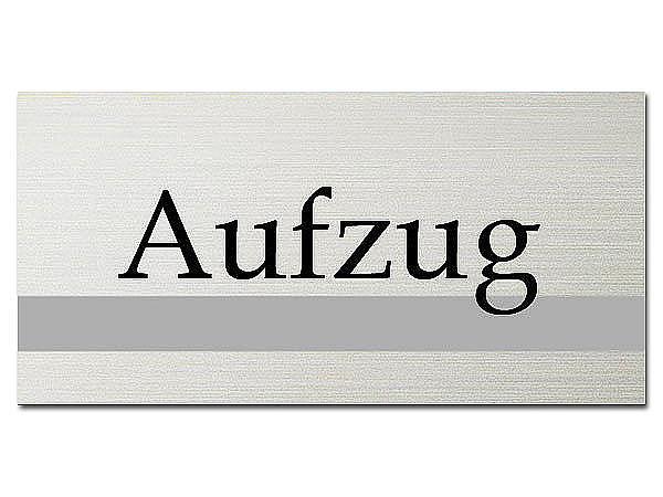 Hinweisschild - Aufzug - ClassicLine - Größe: 200 x 100 mm