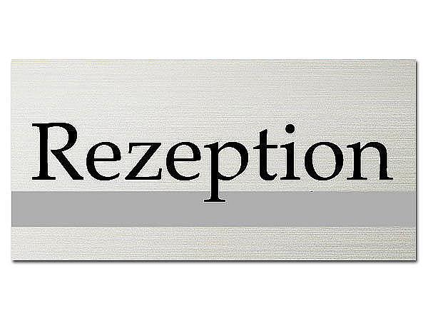 Türschild - Rezeption - ClassicLine - Größe: 200 x 100 mm