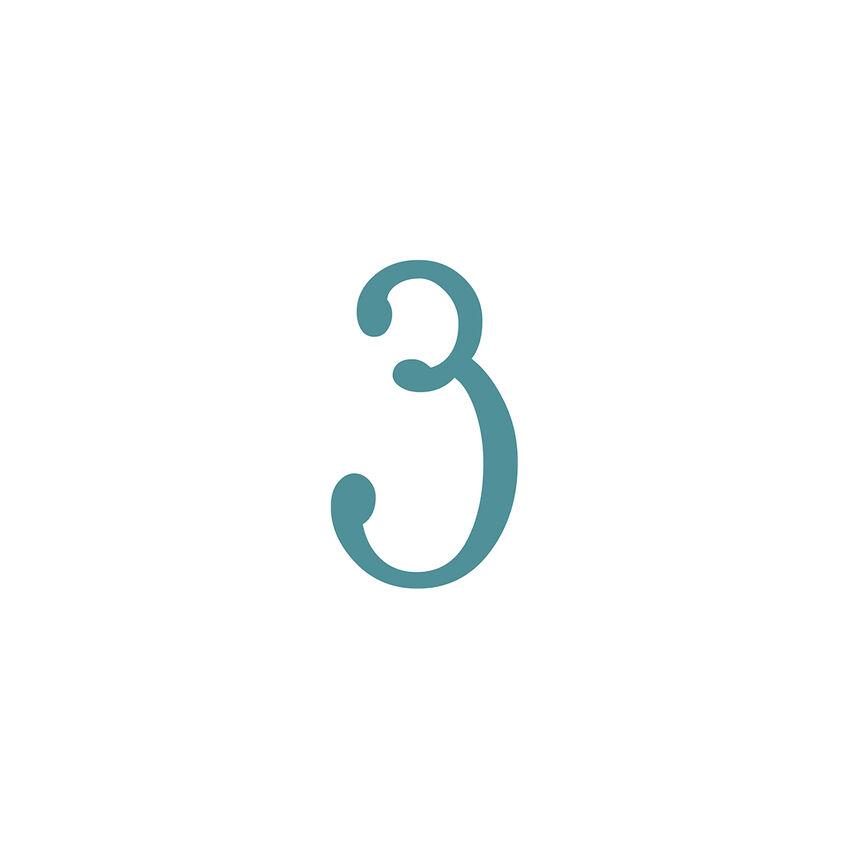 Kleine Hausnummer zum Aufkleben - einstellig - 15 cm - Klebebuchstaben und Klebezahlen
