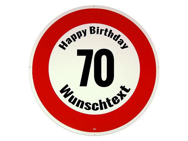 Geschenke zum 70 geburtstag verkehrsschild happy birthday for Geschenke zum 70 geburtstag vater