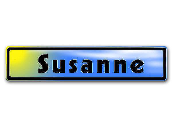 Namensschild gelb blau mit Name oder Wunschtext