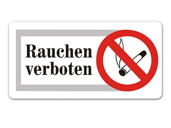 rauchen verboten schild s3465 ebay. Black Bedroom Furniture Sets. Home Design Ideas