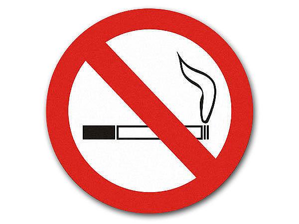 gro es schild rauchen verboten 41cm durchmesser hausnummern und schilder online kaufen. Black Bedroom Furniture Sets. Home Design Ideas