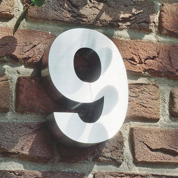 3d Hausnummer 9 Aus Edelstahl H He 160 Mm Tiefe 30 Mm S3785 Ebay
