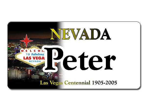 Nevada USA Kennzeichen mit individuellem Wunschtext bedruckt