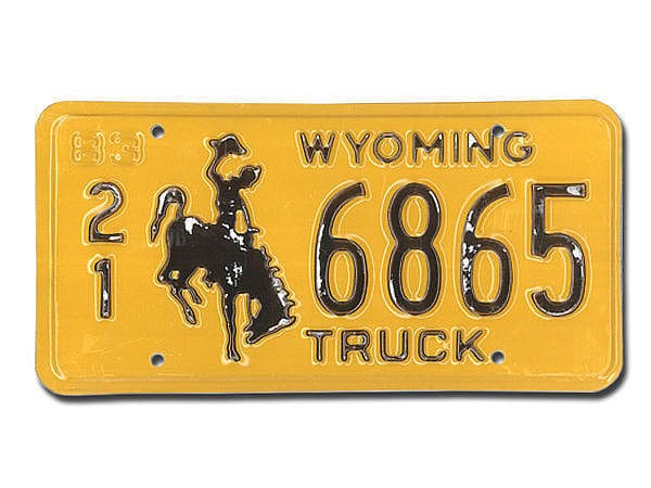 U S-Nummernschild Wyoming - original