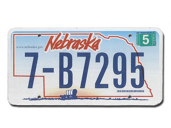 U S-Kennzeichen Nebraska - original