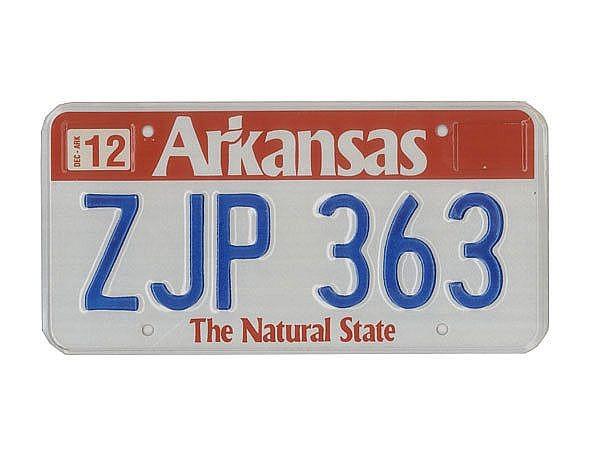 USA Nummernschild Arkansas - original