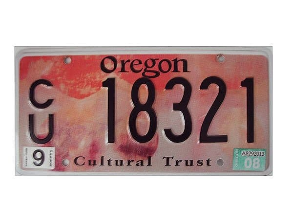 US-Nummernschild Oregon - Cultural Trust - original