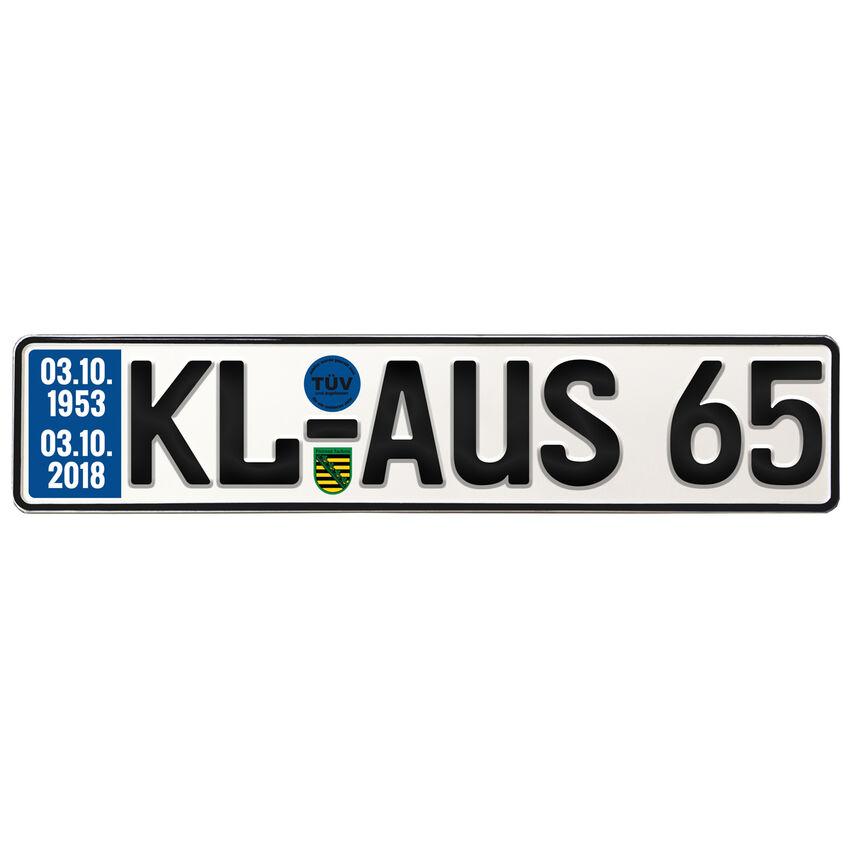 Geburtstagsgeschenk Schild mit TÜV zum 65. Geburtstag