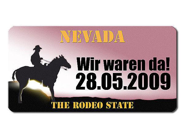 Nevada US Kennzeichen mit individuellem Wunschtext bedruckt
