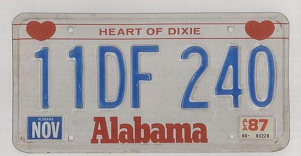 USA Autokennzeichen aus Alabama