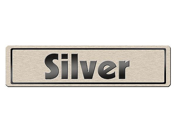 Kleines Namensschild in Silber mit Wunschbundeslandwappen