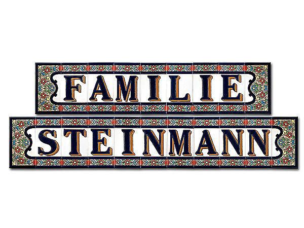 Spanische Fliesen Mit Familienname Und Dem Zusatz Familie - Spanische fliesen kaufen