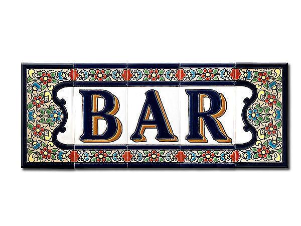 Spanischer Schriftzug Bar