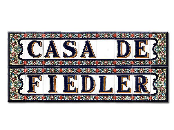 Hausschild spanische Fliesen mit Casa de und Wunschname