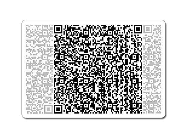 QR-Code Aluminiumschild - klein - mit Wunschtext