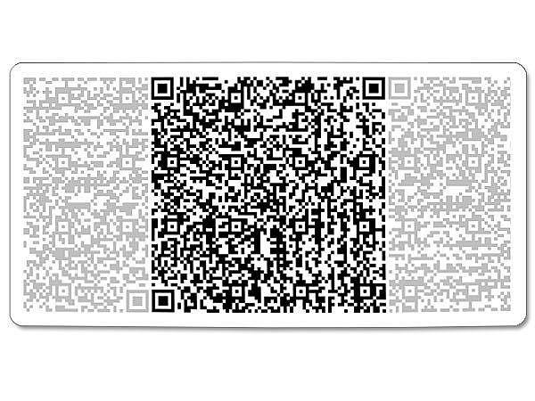 QR-Code Aluminiumschild - groß - mit Wunschtext