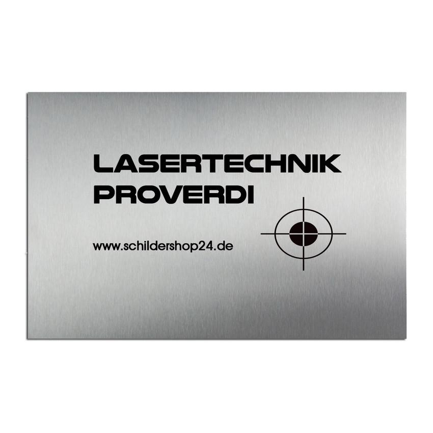 Türschild Edelstahl mit Lasergravur 150 x 100 mm - Hausnummern und ...