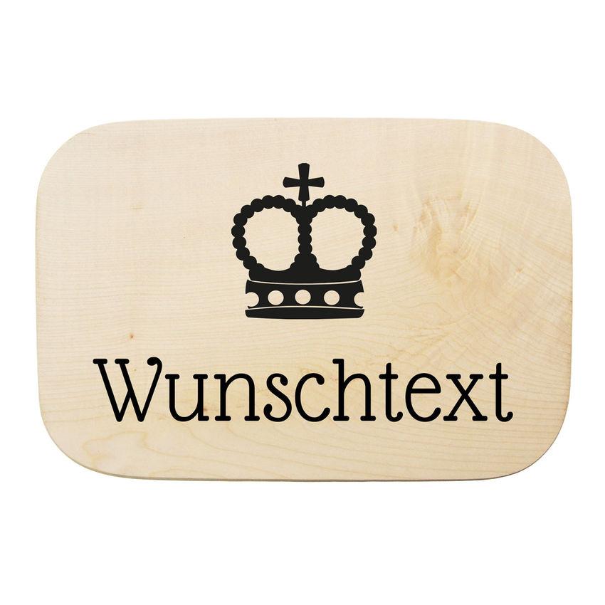 Holzschild rechteckig mit individuellem Wunschtext und Symbol