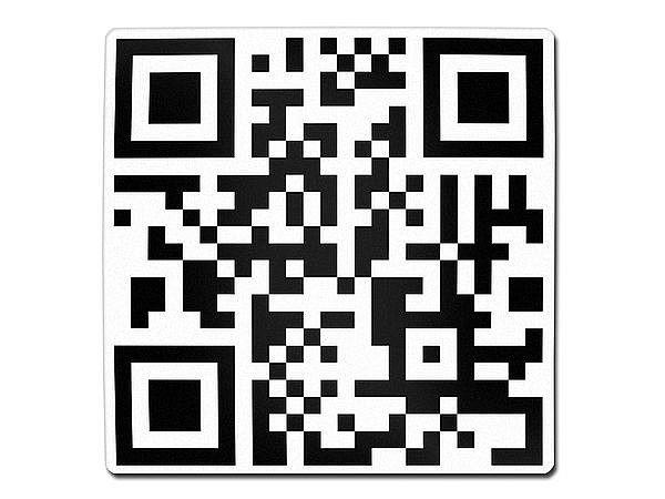 Quadratisches Aluminiumschild mit QR-Code