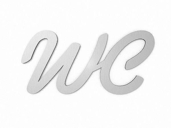 WC-Schild aus Edelstahl - 200 mm x 100 mm bei SchilderShop