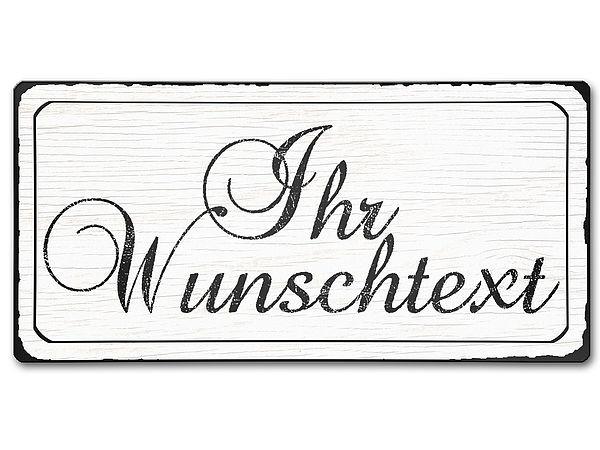 Vintage Schild aus Aluminium mit Wunschtext