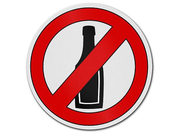 Alkoholverbot - Verbotszeichen aus Aluminium