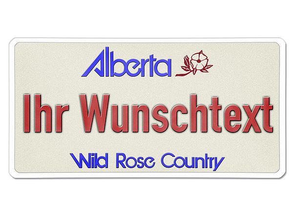 Kanada - Nummernschild Alberta mit individuellem Wunschtext