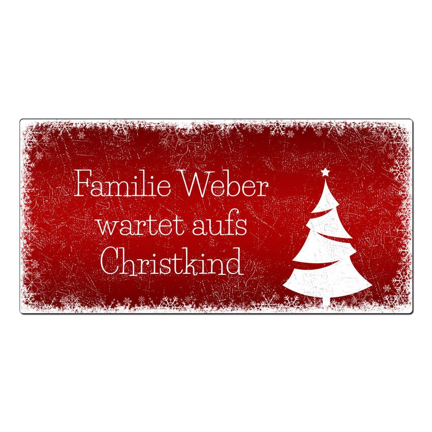 Weihnachtsdeko Schneeflöckchen - Schild mit Wunschtext - 300 x 1 bei SchilderShop
