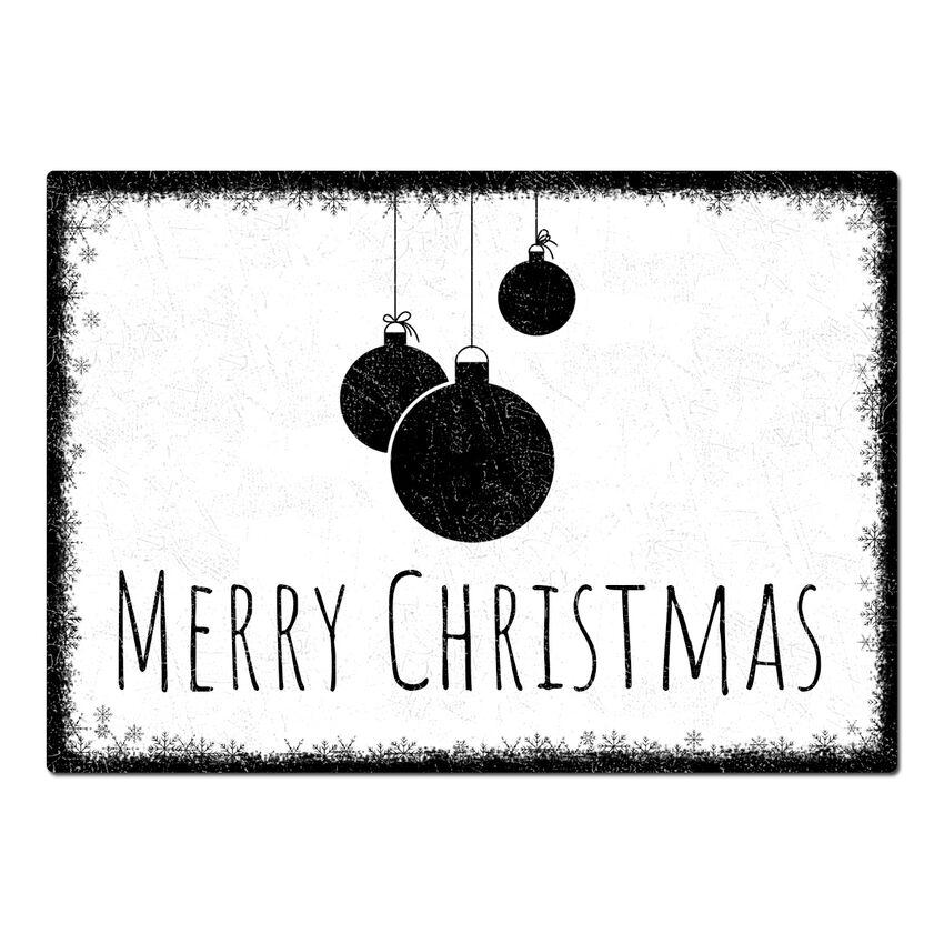 Blechschild Schneeflöckchen mit individuellem Wunschtext im Form bei SchilderShop